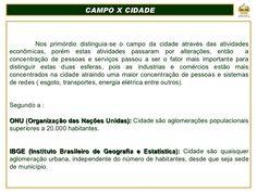 Geografia as cidades brasileiras