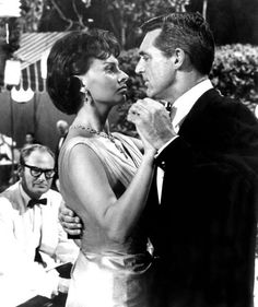 Cary Grant & Sophia Loren for Houseboat. He was madly in love with her, so this photo is kind of heartbreaking.