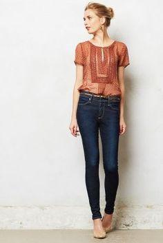 AG Farrah High-Rise Skinny Jeans, love this look.