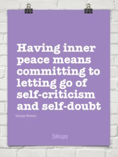 Having inner peace means committing to letting go of self-criticism and self-doubt Positive Self Talk, Positive Thoughts, Happy Thoughts, Quotes To Live By, Me Quotes, Peace Quotes, Peace Meaning, Inspirational Thoughts, Inspirational Quotations