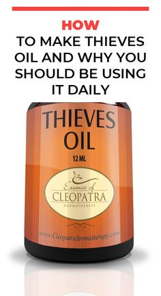 How to Make Thieves Oil and Why You Should Be Using it Daily Natural Cold Remedies, Herbal Remedies, Health Remedies, Home Remedies, Health Diet, Health And Wellness, Health And Beauty, Health Care, Health Vitamins