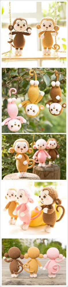 Monkey Crochet Pattern, Handmade Amigurumi Pattern, PDF Tutorial with Photos