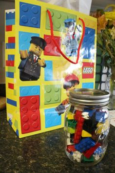 lego movie birthday party ideas | the lego guessing jar idea from this post put some legos in