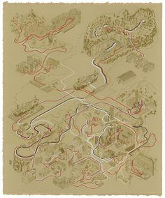 6 Star Wars and Indiana Jones Movies Visualised as Treasure Maps