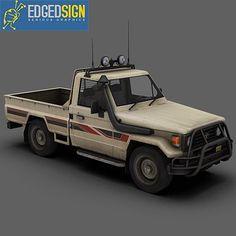 Toyota Land Cruiser Fzj75 3Ds - 3D Model