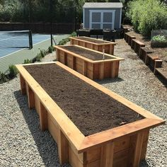Planting on raised garden beds brings many benefits compared to planting on the ground. But the most crucial one is you can grow a garden even in a Raised Garden Bed Plans, Building A Raised Garden, Raised Beds, Garden Planters, Vegetable Garden, Garden Spaces, Garden Projects, Amazing Gardens, Backyard Landscaping