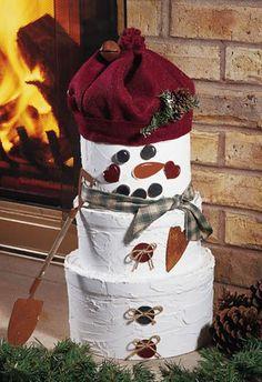 Hatbox Snowman-- http://www.craftideas.com/projects/details/3479/hatbox-snowman#!prettyPhoto