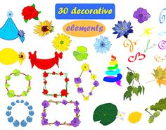 """Check out new work on my @Behance portfolio: """"30 decorative elements"""" http://be.net/gallery/58188041/30-decorative-elements"""