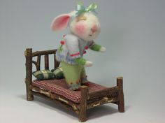 Peanut Bunner Needle Felted by barby303