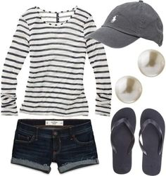 """Check out Tiffany Singer's """"Comfy Casual - Polyvore A fashion look from July 2012 featuring Madewell t-shirts and Abercrombie"""