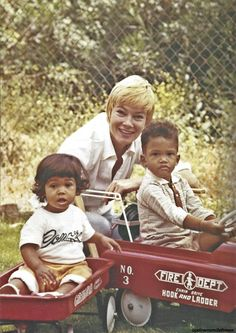 May Britt, wife of Sammy Davis, Jr. with two of their children, Tracey and Mark. Photo taken by Sammy Davis, Jr.