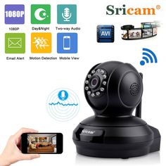 Sricam SP019 1080P HD Home Surveillance Camera Baby Monitor Night Vision WiFi Indoor IP Security Camera P2P PTZ Support TF Card  Price: $ 69.99 & FREE Shipping   #rc #security #toys #bargain #coolstuff #headphones #bluetooth #gifts #xmas #happybirthday #fun