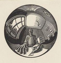 Maurits Cornelis Escher (1898 - 1972), artista neerlandés maestro del dibujo, la xilografía y otras técnicas de grabado con las que creó  impactantes figuras imposibles y mundos imaginarios.