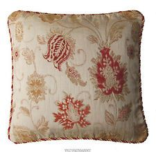 SUPERB HEAVY QUALITY LIGHT GOLD TAPESTRY CORDED CUSHION COVER 18 x18 ins~43 cm £6.99