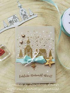 """Zsu's Home of Art: Weihnachtskarten """"Weihnachten daheim"""""""