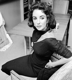 You Might As Well Live — longtallsallyd: Elizabeth Taylor in her home in...