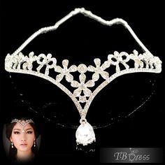 Bright Alloy with Rhinestone Wedding Bridal Tiara