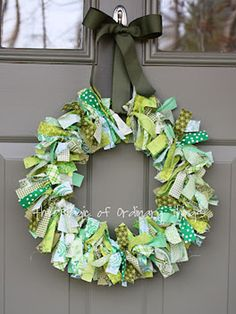Scrappy St. Patrick's Day Wreath - GoodHousekeeping.com