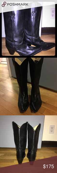 TONY MORA black cowboy boots size 38 Beautiful boots. Great quality. Barely worn! ♥️ Tony Mora Shoes Ankle Boots & Booties