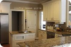 white cabinets with venetian gold granite - Google Search