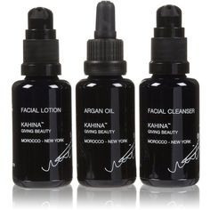 Kahina Giving Beauty Travel Basics Set-3 ct (120 AUD) ❤ liked on Polyvore featuring beauty products, beauty, fillers, makeup, black and cosmetics