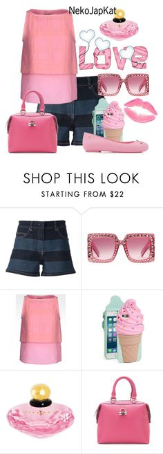"""shorts2"" by neko-m-tucker-smith ❤ liked on Polyvore featuring Sonia by Sonia Rykiel, Gucci, Emporio Armani, Kate Spade, Paul's Boutique and Melissa"