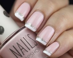 Cute pink and white with glitter