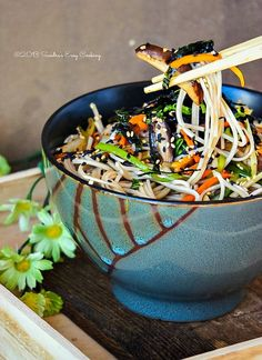 Soba Noodle Salad @SECooking | Sandra  #asianfood #sobanoodles #recipe #japanese