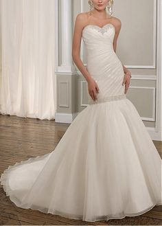 CHARMING ORGANZA SATIN SWEETHEART MERMAID WEDDING DRESS LACE BRIDESMAID PARTY COCKTAIL EVENING GOWN IVORY WHITE FORMAL