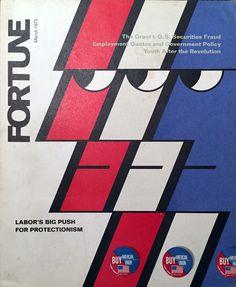 Walter Allner – Fortune Magazine Cover – March 1973 (Labor's Big Push for