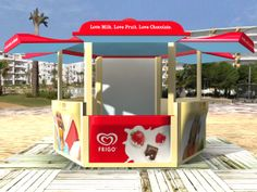 Imagen de los kioscos de Frigo para toda Europa. Cliente: Unilever Love Chocolate, Popcorn Maker, Milk, Kitchen Appliances, Fruit, Point Of Sale, Innovative Products, Creativity, Blue Prints