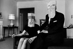 Untitled from the Mask Series with Saul Steinberg by Inge Morath. 1962