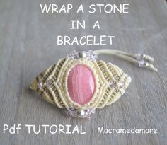 With this interesting tutorial you will be able to wrap a cabochon or a stone to create a bracelet. It a bit different wrap a stone for a pendant .... ! The explanations are in Italian / English with a lot of pictures step by step. The model explained can be the basis for designing new shapes and colors ... The bracelets are knotted with polyester waxed threads 1mm. Measurements: Is adjustable Macrame level : for all who love make jewels and are acquainted with the basics of macrame. ...