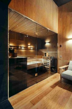 Image 6 of 13 from gallery of Viba's Sauna / Spot Architects. Photograph by Filips Smits Home Spa Room, Spa Rooms, Sauna Steam Room, Sauna Room, Spa Bathroom Decor, Bathroom Interior Design, Saunas, Piscina Spa, Infrarot Sauna