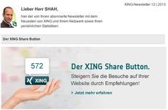 #XING shared den XING Share Button