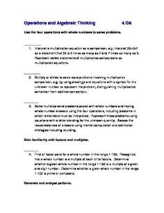 This is a simple checklist that I have typed for the CCSS in Math Grade 4.  I…