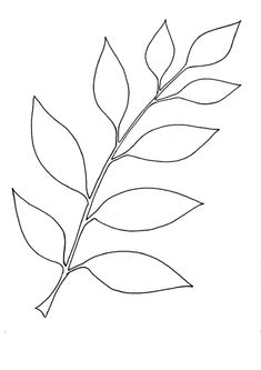 Simple Leaf Coloring Pages for Kids Leaf Coloring Page, Coloring Pages For Kids, Leaves Template Free Printable, Free Paper Flower Templates, Coffee Filter Flowers, Leaf Stencil, Floral Tattoo Design, Leaf Drawing, Free Stencils