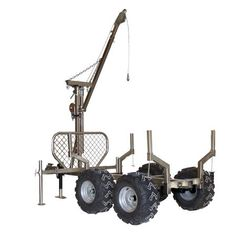 Woodland Mills T-Rex Trailer Atv Dump Trailer, Atv Utility Trailer, Log Trailer, Trailer Diy, Trailer Plans, Trailer Build, Farm Projects, Welding Projects, Logging Equipment