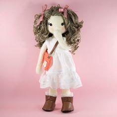 Amigurumi crochet doll  Pretty girl doll in a by BubblesAndBongo