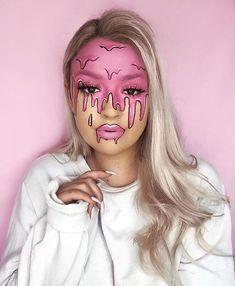 Face Paint Makeup, Eye Makeup Art, Edgy Makeup, Crazy Makeup, Baddie Makeup, Dramatic Makeup, Amazing Halloween Makeup, Disney Halloween Makeup, Disney Makeup