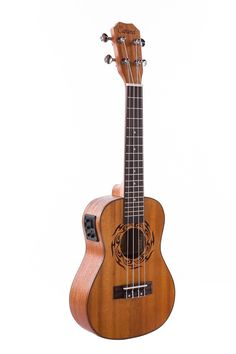 Caramel CC402 Full Solid Mahogany Concert Acoustic Electric Ukulele