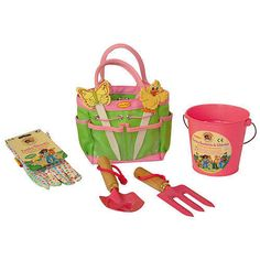 Pink junior gardening kit. Xmas gift idea for a female junior gardener