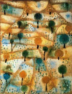 Paul Klee, Small rhithmyc landscape, 1920