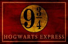 Harry Potter Hogwarts Express Platform 9 3/4 Sign Typography Minimalist Poster 13x19 on the redditgifts Marketplace