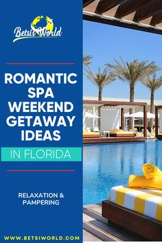 A romantic spa weekend getaway is the perfect way to relax and reconnect! Spend time with your loved one being pampered in a luxurious setting. These Florida spa getaway ideas will have you packing your bags in no time! #spagetaway #spavacation #spa #romanticgetaway #florida #getawayideas Spa Weekend, Weekend Getaways, Us Destinations, Amazing Destinations, Romantic Getaways, Romantic Travel, Usa Travel, Luxury Travel, Travel And Leisure
