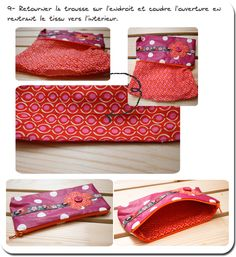 1000 images about pochette on pinterest couture barrette and ipad - Tuto couture pochette fermeture eclair ...