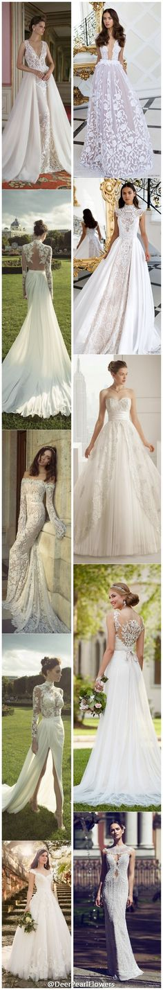 Lace wedding dresses to die for / http://www.deerpearlflowers.com/lace-wedding-dresses-and-gowns/