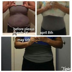 """Here's what """"only"""" losing 10 lbs of fat looks like! This could be you in 60 days...risk free! My daily routine consists of Plexus 96 in the morning and a Plexus slim drink along with the accelerator and I drink tons of water which I never pictured myself doing."""