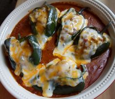 Beef Enchilada Stuffed Poblanos from Happier Than A Pig In Mud - use lowfat cheese & lean ground beef (good ground beef recipes stuffed peppers) Mexican Dishes, Mexican Food Recipes, Vegetarian Recipes, Cooking Recipes, Healthy Recipes, Mexican Cooking, Easy Recipes, Budget Cooking, Herb Recipes