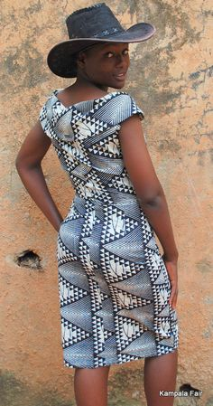 african print fabric dress from Uganda African Inspired Fashion, Latest African Fashion Dresses, African Print Dresses, African Print Fashion, Africa Fashion, African Dress, African Attire, African Wear, African Women